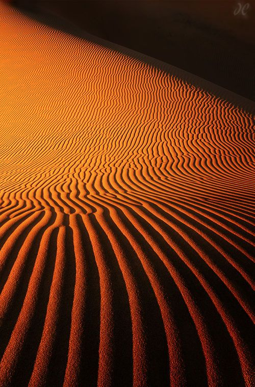 Sculpted sand.