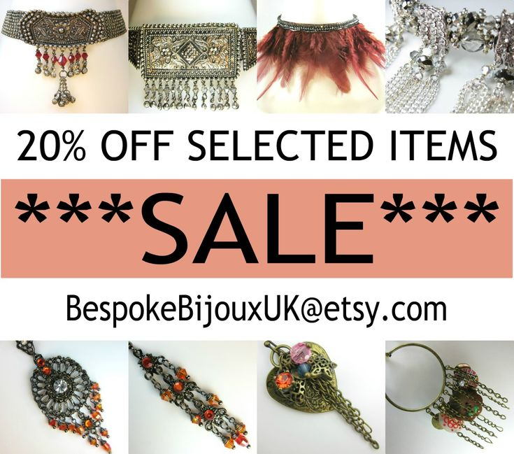 ***SALE*** 20% OFF SELECTED ITEMS BespokeBijouxUK@etsy.com https://etsy.me/2uU71uO  #BBUK #Jewellery #jewelry #Handmade #Etsy #gifts #crystal #swarovski #boho #Vogue #sale #discount #chokers #necklaces #bracelets #accessories #gemstones #birthstones #bookmarks #tasselearrings #FashionWeek #MothersDay #ValentinesDay