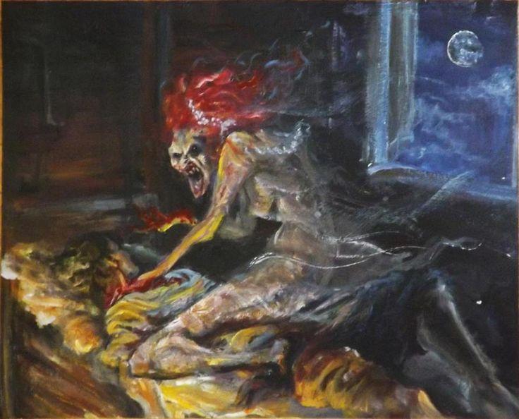 """MiShiGo jakiś czas temu brało udział w konkursie Ilojleen """"Demony Słowianskie""""http://ilojleen.blogspot.com/2015/05/rostrzygniecie-konkursu-demony.htmlA oto moja Zmora:"""