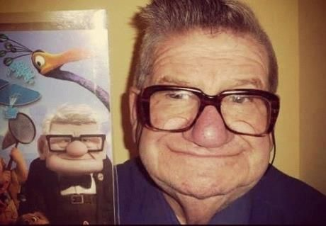Up and Up: This Man, Real People, Real Life, The Real, Movie, Old Man, Norway, Looks Alike, Cartoon Character