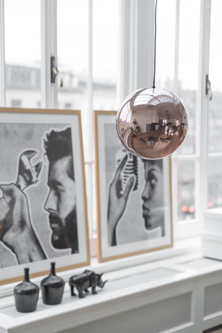 Hanglamp Glazen Bal - Koper - Glas - HK Living