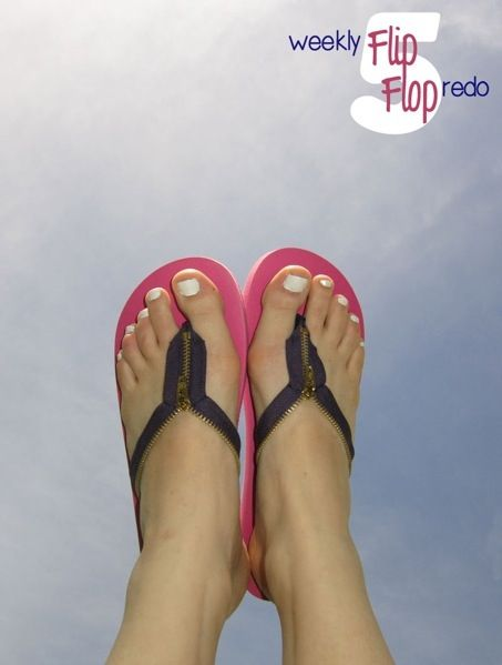 Make Zipper Flip Flops