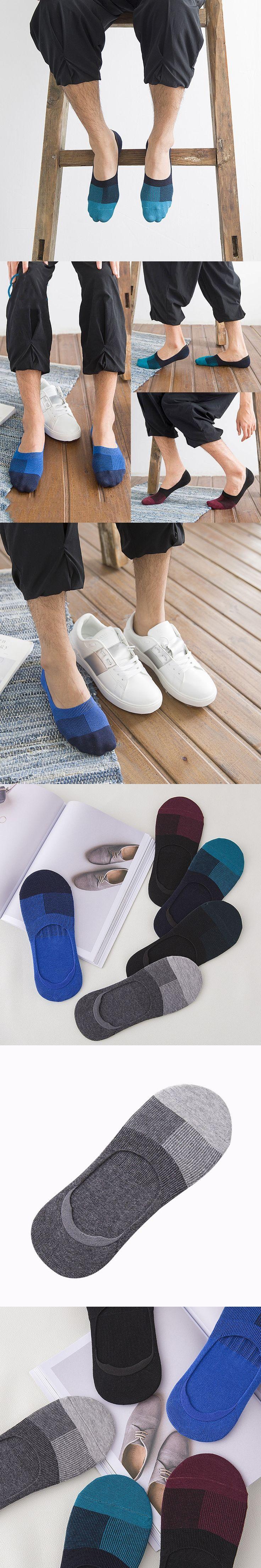 New Style Summer Men Cotton Socks Men's Business Dress Socks Contrast Color Low Cut Ankle Socks Male Amazing no show socks Male