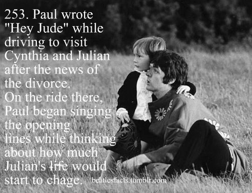 """Yes, Paul was very good to Julian after John left him and Cyn for Medusa!! Sorry, as much as I love the Beatles, John lost some respect points with me after I read Cyn's book """"John"""". She was a very classy lady til the end. {GM}"""
