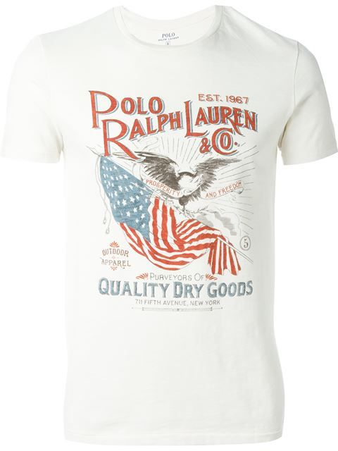 POLO RALPH LAUREN Logo Print T-Shirt. #poloralphlauren #cloth #t-shirt