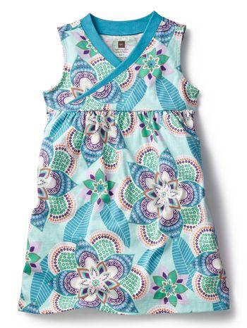 Tea Collection Kalinda Wrap Neck Mini Dress available at www.tinysoles.com! #TinySoles