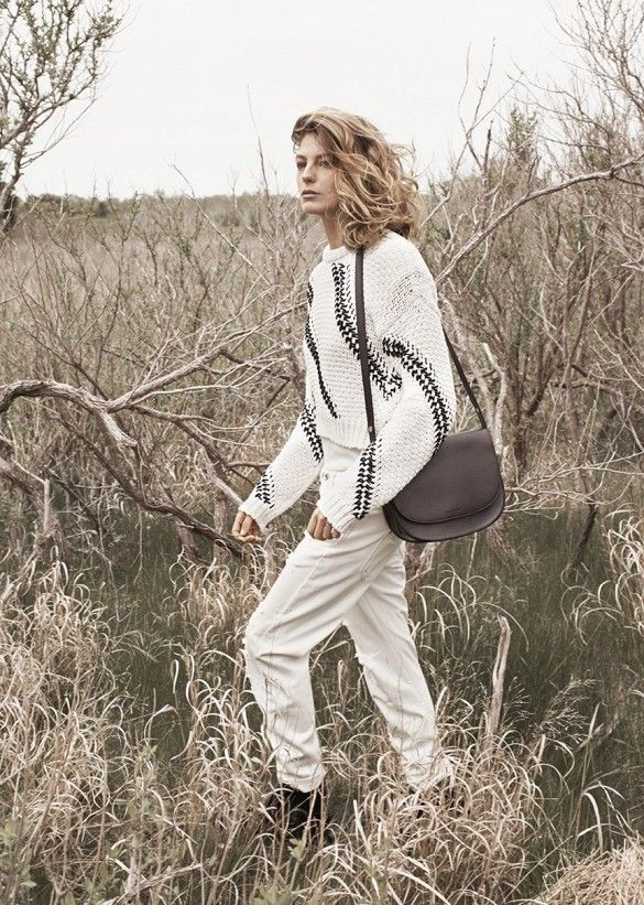 Daria Werbowy for Mango Fall 2014.
