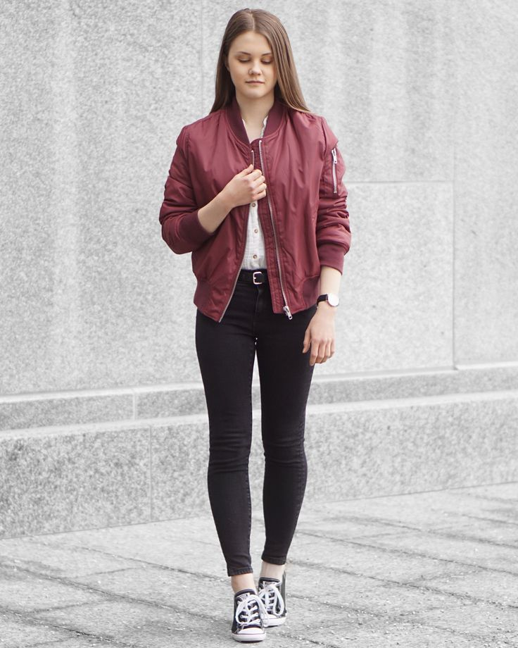 beautiful maroon jacket outfit ideas 11