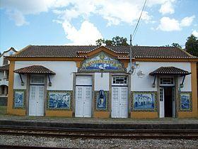 Jorge Colaço | Estação Ferroviária de / Railway Station of Castelo de Vide | s.d. #Azulejo #JorgeColaço