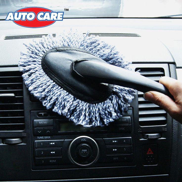 Auto Care wielofunkcyjny Czyszczenia Samochodu Z Mikrofibry Duster Brud Kurz Auto Czyste Szczotki Odkurzanie Narzędzie Mop Szary 1 Sztuka