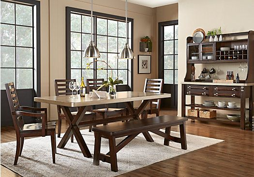 picture of sofia vergara sevilla brown 3 pc dining room from
