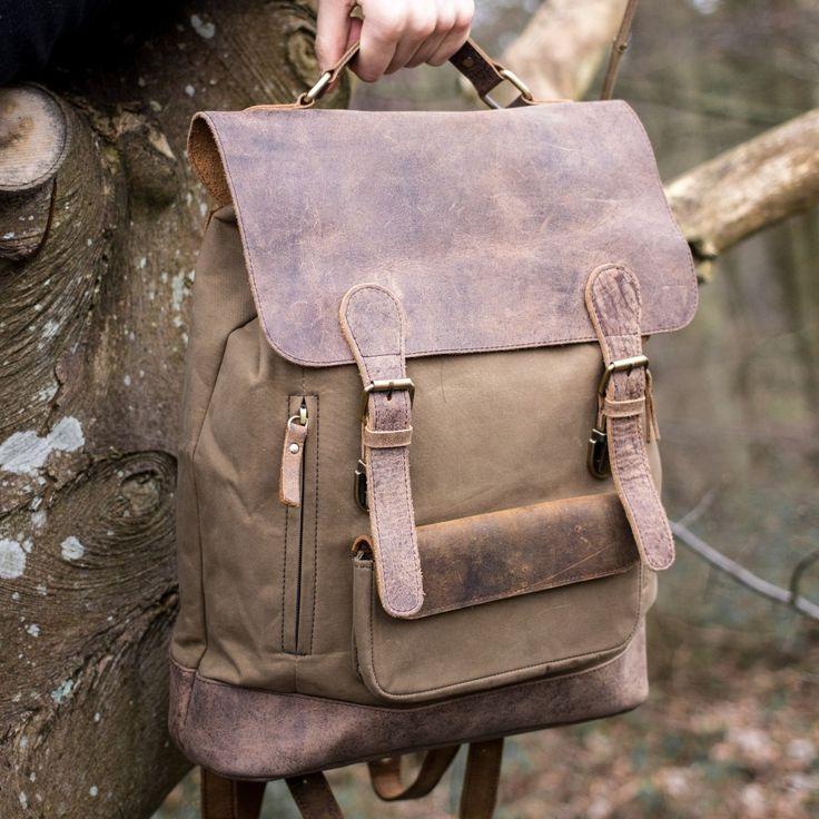 canvas backpack rucksack bag by Scaramanga