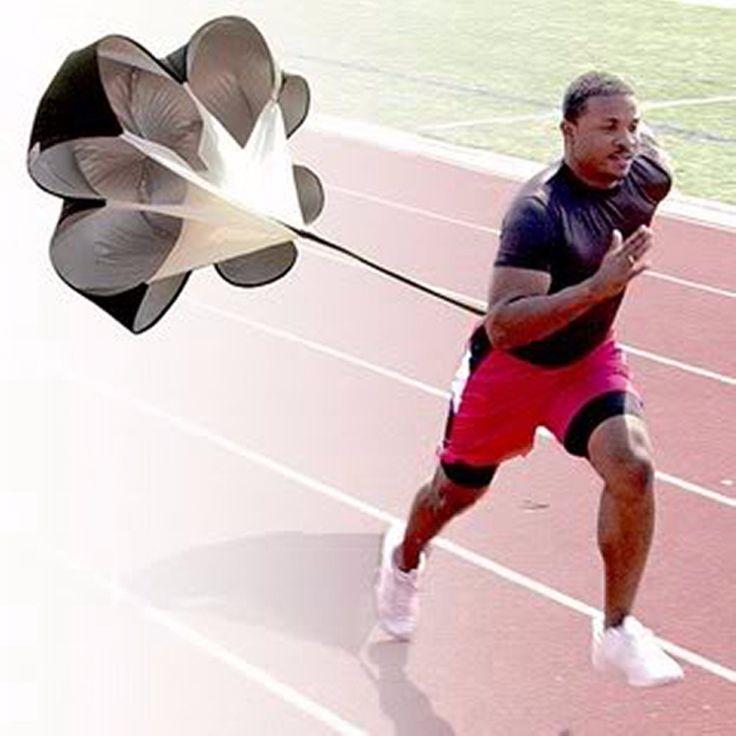 Speed Resistance Training Parachute Running Chute Soccer Football Training Parachute Umbrella Black Hot Sale