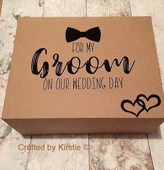 Groom gift box. Groom gift, husband to be gift.  I love the idea of this personalised box containing a gift for a Groom on his Wedding Day