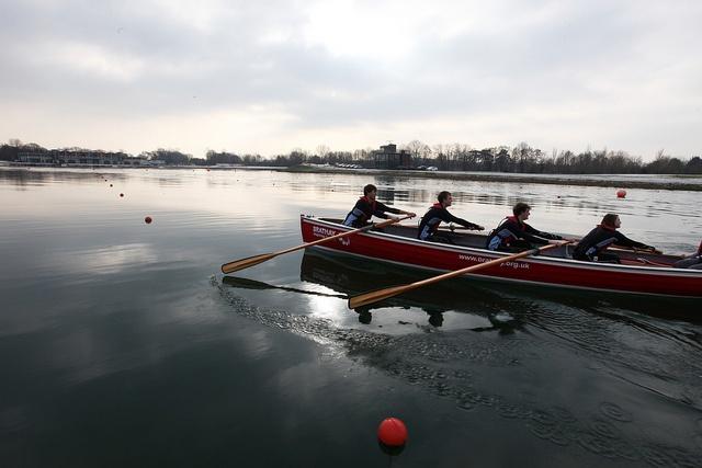 Junior Team GB rowers launching the Brathay Apprentice Challenge