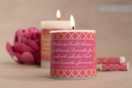 printables + matchboxes + pillar candles