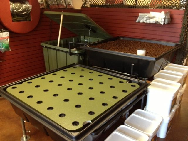 aquaponics system with 32 square feet of grow space that is expandable as your needs increase
