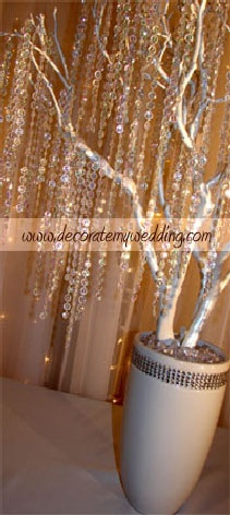 40 best wedding trees images on pinterest crystal wedding wedding decorations crystal wedding tree with iridescent bead strands junglespirit Images