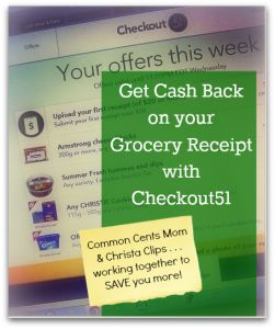 Get Cash Back on Your Grocery Receipt with Checkout51 by Christa Clips for Common Cents Mom  251x300 Get Cash Back on your Grocery Receipt w...
