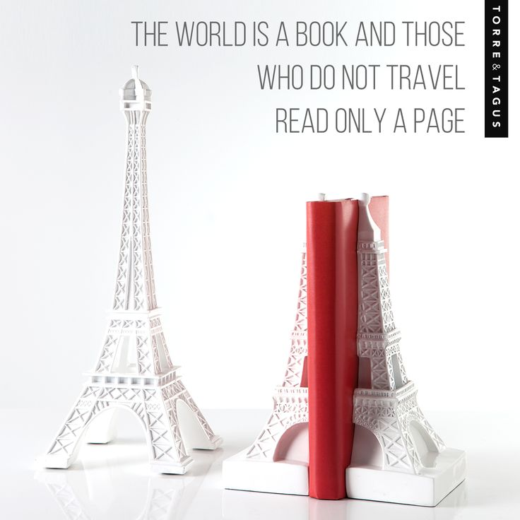 Decorate your home with travel inspired accessories of where you have been…or are wanting to go! #TorreAndTagus #TravelHomeDecor  #EiffelTowerStatue #EiffelTowerBookends www.torretagus.com
