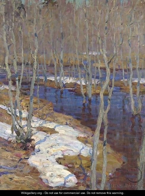 Isaak Ilyich Levitan, the thaw