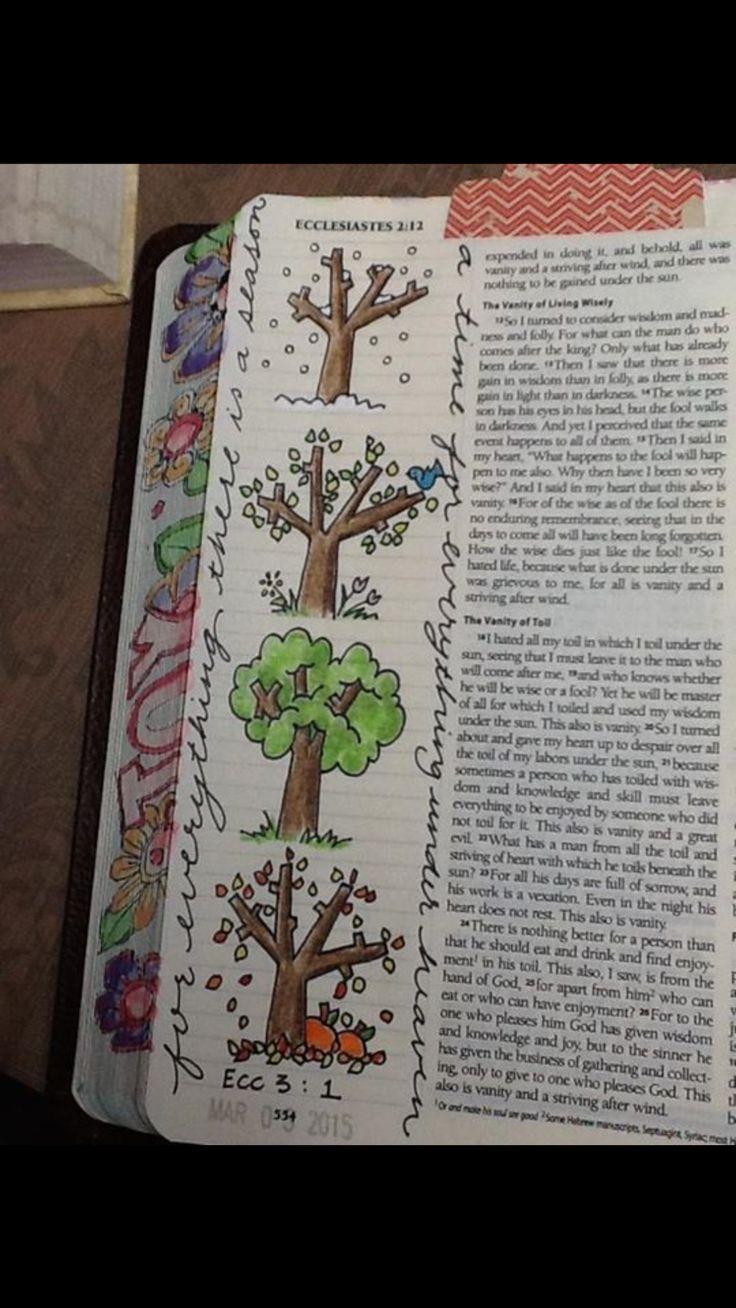 Ecclesiastes 3:1......................... Bible journaling.