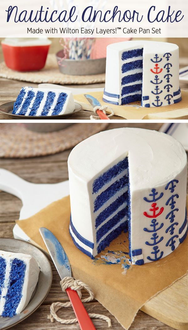 Nautical Anchor Cake