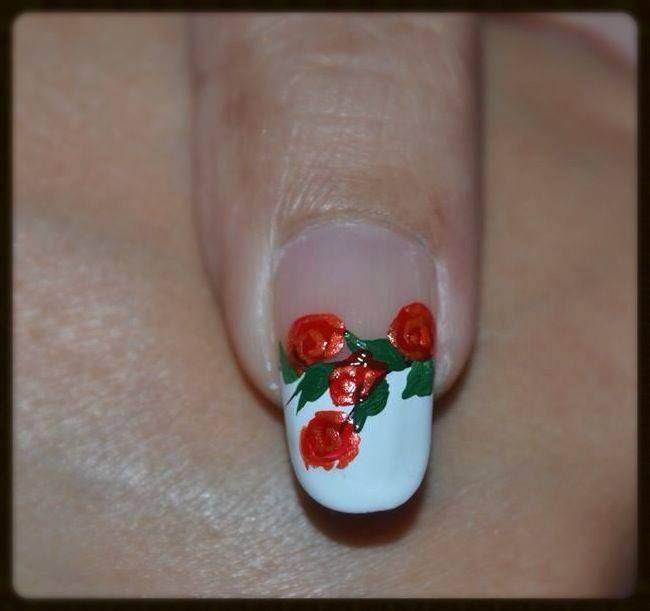 Romantic Roses Nail Art ~ Robin Moses Nail Art Inspired