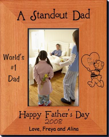 personalized fathers day picture frame solid wood laser engraved picture frames starting at 2336