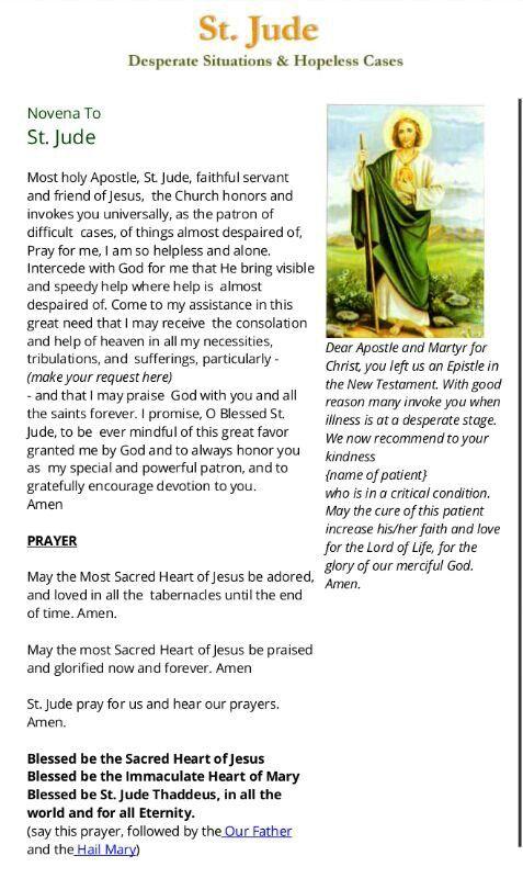 Novena to St. Jude #prayer #Baduday