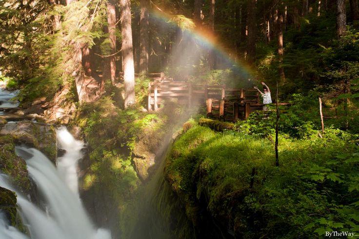 Sol Duc Falls rainbow - Olympic National Park, WA (USA)