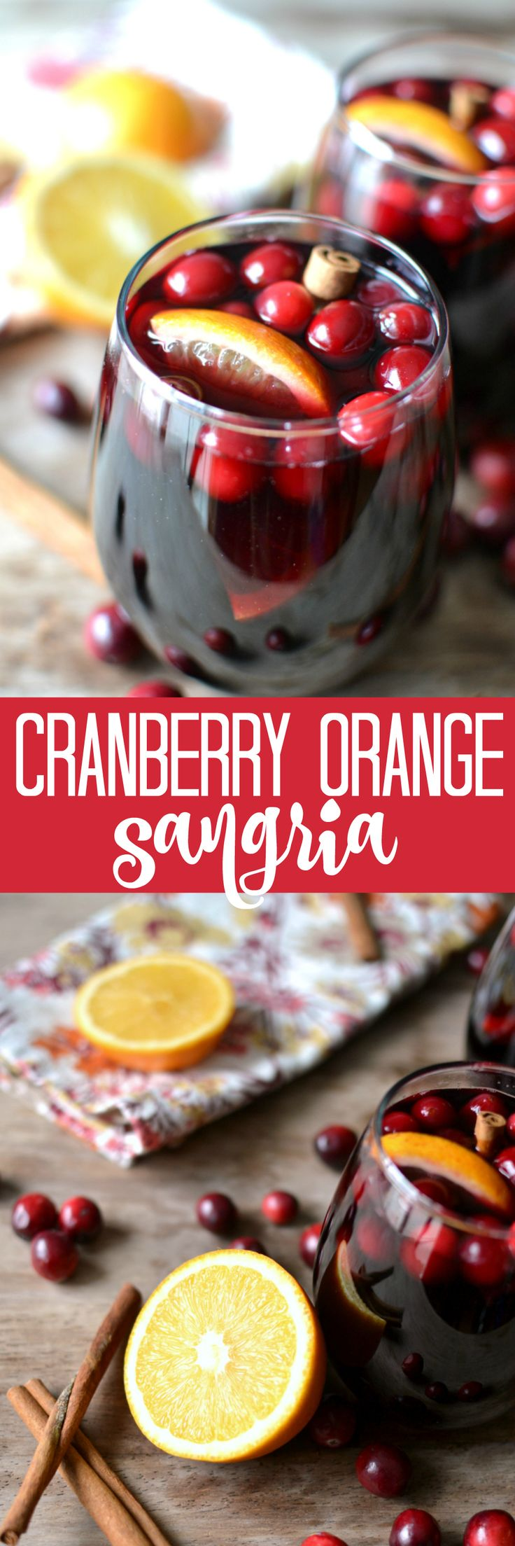 Mulled Cranberry-Orange Sangria. Served warm. Perfect for fall & winter!
