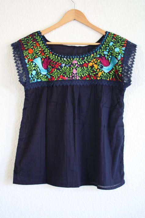 Typical mexican blouse by AmorcitoCorazonMX on Etsy