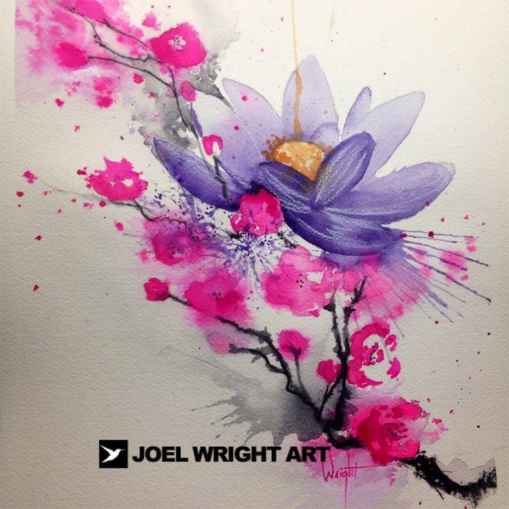 best 25 watercolor lotus ideas on