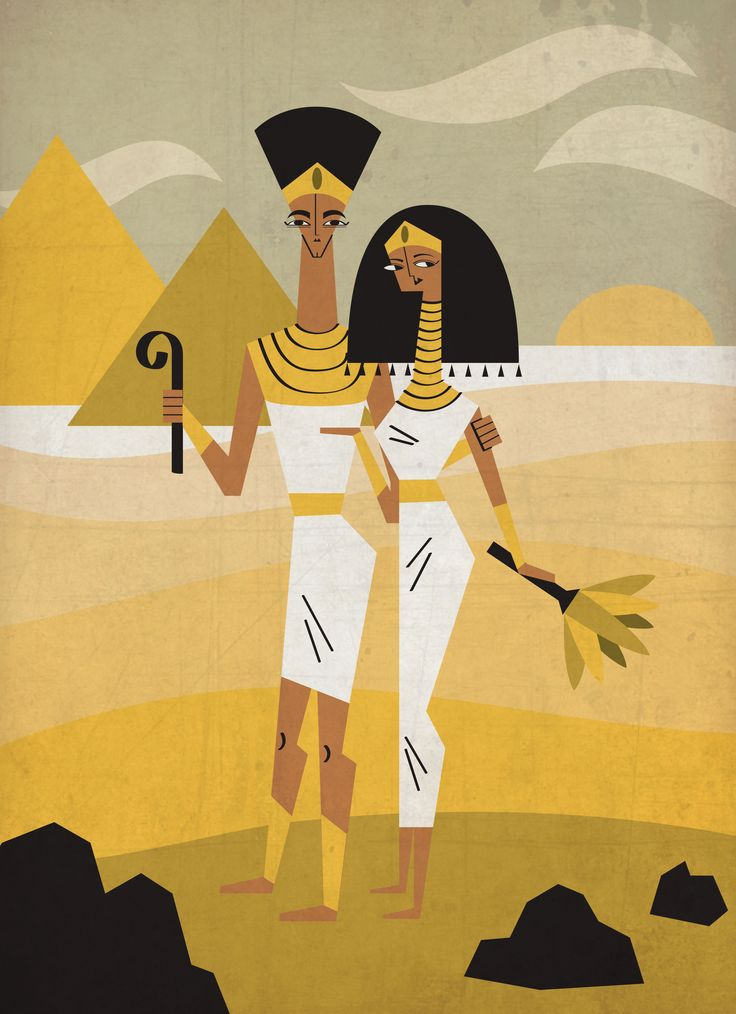 Egypt byJesAntArt #egypt #pharaoh #kings #queen #desert #sand #pyramids #illustration