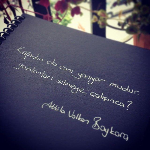 Kağıdın da canı yanıyor mudur, yazılanları silmeye çalışınca? - Atilla Volkan Baykara (Kaynak: Instagram - a.volkanbaykara) #sözler #anlamlısözler #güzelsözler #manalısözler #özlüsözler #alıntı #alıntılar #alıntıdır #alıntısözler #şiir
