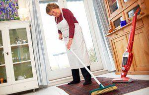 En gulvskrubbe er god til at kratte dyrehår ud af gulvtæpperne.