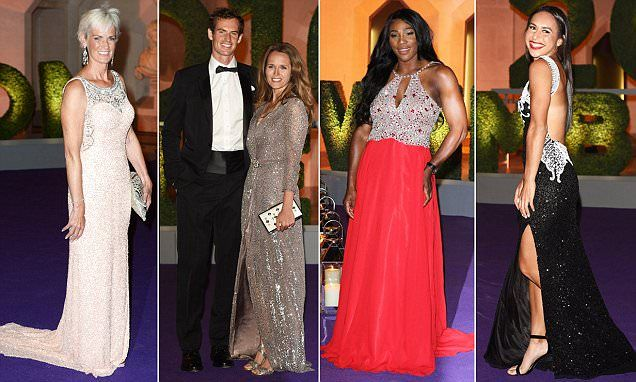 Andy Murray smiles as he arrives at the Wimbledon Champions Dinner