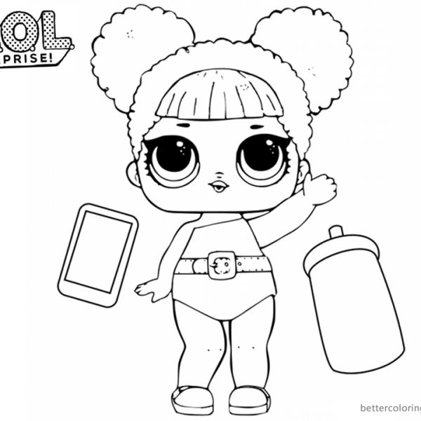 LOL Surprise Coloring Pages Cute Queen Bee | Coloring ...