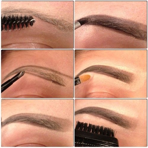 Brows drawing filling in step by step