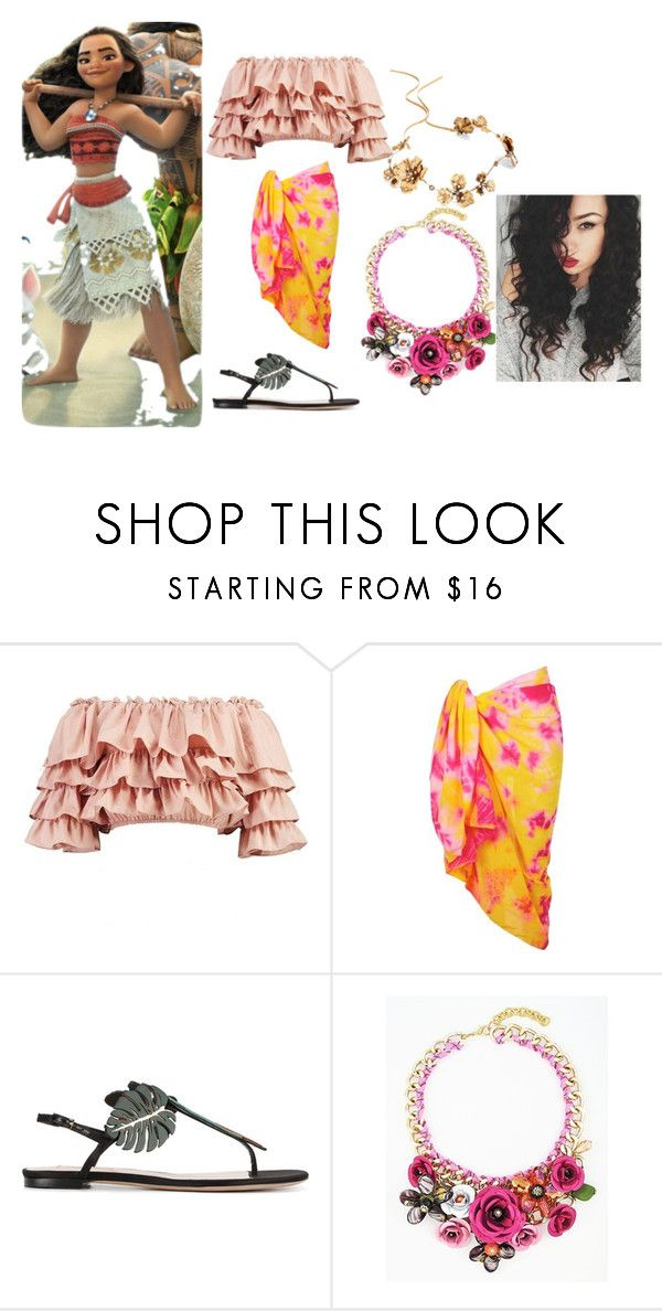 """Moana"" by mandalinaqitrydewi on Polyvore featuring Boohoo, Valentino and Twigs & Honey"