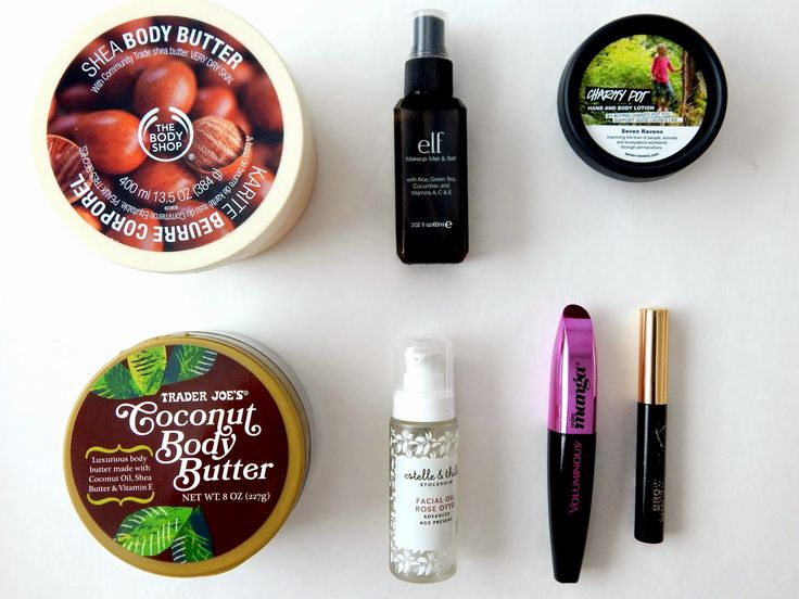 Empties: Body Butter, Mascara, e.l.f., Trader Joe's, Estelle and Thild~ Life in Mascara
