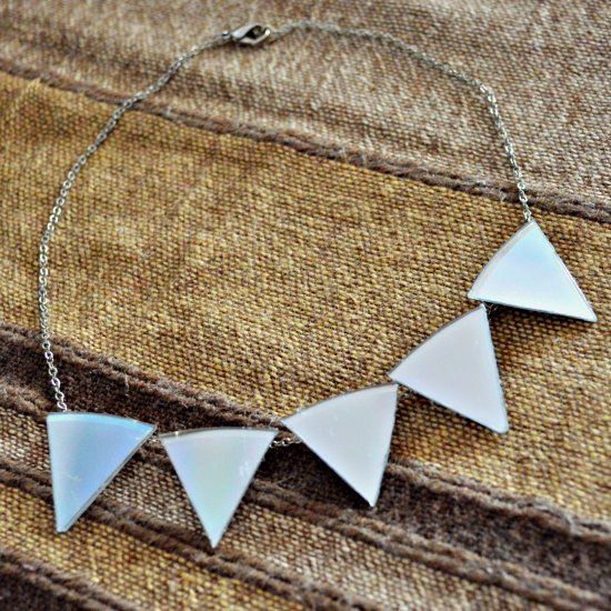 A easy tutorial on this bold and cute statement necklace made out of.....a CD!
