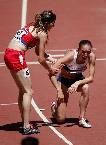Laura Weightman and Amela Terzic Photos - 15th IAAF World Athletics Championships Beijing 2015 - Day One - Zimbio