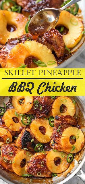 Skillet Pineapple BBQ Chicken   Floats CO #chicken…