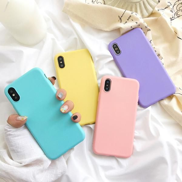 Macaron Colors Soft iPhone Case