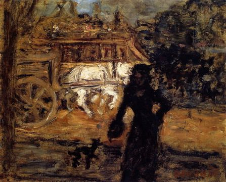 Lady and Little Dog by Pierre Bonnard.jpg (447×360):