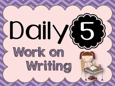Daily 5- Work on Writing {lots of ideas!}