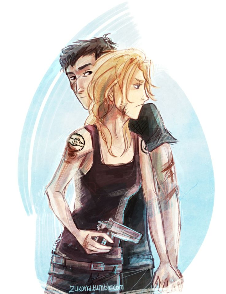 Tris Prior and Tobias Eaton in Insurgent