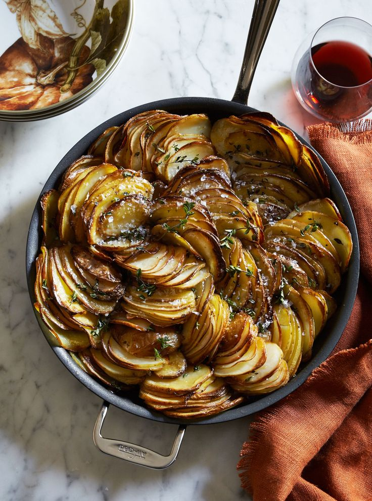 Just 4 ingredients in this stunning potato recipe. Crispy, buttery and aromatic with fresh thyme, these potatoes are the perfect partner for everything from holiday turkey to grilled meats and roasted fish. If you like, substitute fresh sage or rosemary for the thyme.